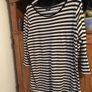 Mossimo Navy Striped Top